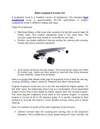 Best Longboard Trucks 101 | PDF Flipbook Best Choice Products Bcp 41 Pro Longboard Cruiser Cruising Skateboard Loboarding Wikipedia Pintail Longboards Reviewed In 2017 Lgboardingnation Buy Surfskate How Do I Find The Right Surf Skate 127mm Bennett Raw 50 Inch Truck Muirskatecom The 40 Bamboo By Original Skateboards Flippin Board Co Plain Bird Classic Cheap 2018 Review Amazoncom Mini Made With Wood Its 19