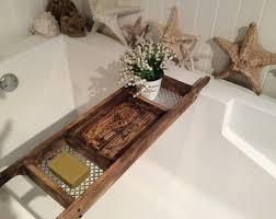 wood bath caddy etsy