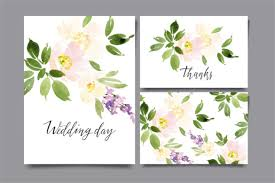 Beautiful Watercolor Wedding Background With Flowers