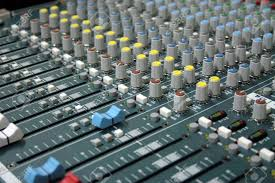 Professional Sound Mixer In The Recording Studio Stock Photo