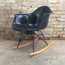 100 Navy Blue Rocking Chair Herman Miller Eames RAR For Sale At 1stdibs