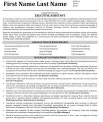 Executive Assistant Resume Sample Template