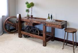 Industrial Workbench Bar Walnut Creek Furniture