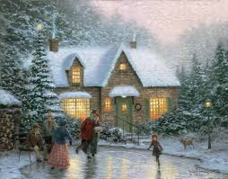 Thomas Kinkade Christmas Tree Village by Skater U0027s Pond The Thomas Kinkade Company