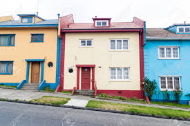 100 Houses In Chile Colorful Puerto Montt Stock Photo Picture And