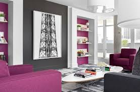 View In Gallery Purple And Grey Living Room