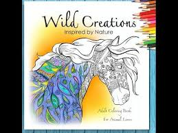 A Look Inside Flip Through Video For Wild Creations Coloring Book Inspired By Nature