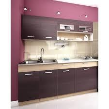 meuble cuisine complet cuisine complète topaze noyer 1m80 5 meubles achat vente