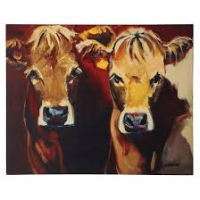 cows canvas wall décor 3r studios target