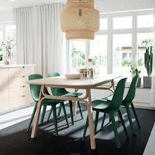 voxlöv odger tisch und 4 stühle bambus grün 180x90 cm