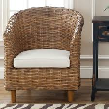 Tolix Chair Cushion Melbourne by Safavieh St Thomas Indoor Wicker Honey Brown Barrel Chair