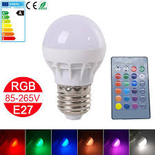 new rgbw led bulb e27 energy saving 85 265v led spot light change