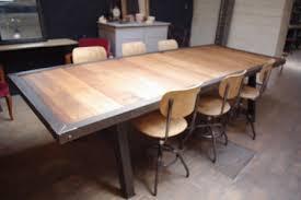 table industrielle metal bois vendue le du marchand d