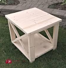 DIY Rustic X Side Table