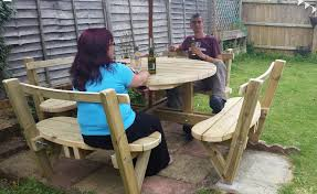 8 Person Outdoor Table by How To Make A Round 8 Seater Garden Bench Youtube