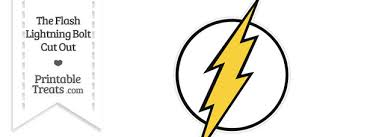 The Flash Lightning Bolt Symbol Cut Out