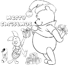Free Coloring Pages Winnie The Pooh Christmas