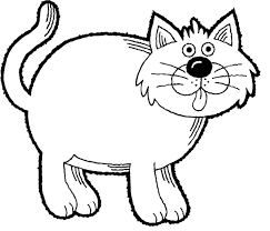 Fat Cat Coloring Pages Free