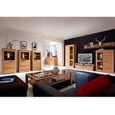 wohnzimmer komplett set inkl couchtisch vitrinen wohnwand dawson 3
