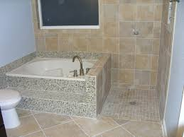 mosaic vinyl wall and floor tiled tub and shower tile ideas modern