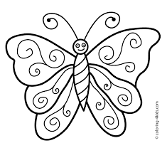 New Pic Butterfly Simple In Black N White For Colouring Of Monarch Coloring