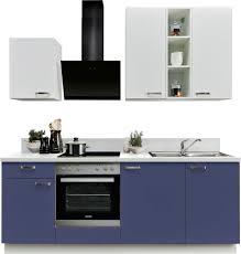 express küchen küchenzeile bari mit e geräten soft funktion und vollauszug vormontiert breite 220 cm kaufen otto