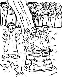 Elijah And The Prophets Of Baal Coloring Page 11 Pages