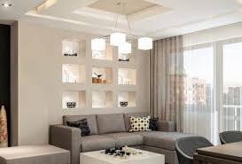 spotbeleuchtung nischen trockenbau wand wohnzimmer