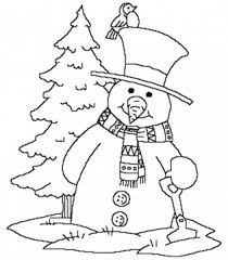 Coloring Page Winter Season Nature 11