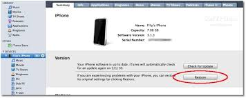 Download iPhone iPod IPSW Manually Restore via iTunes How to