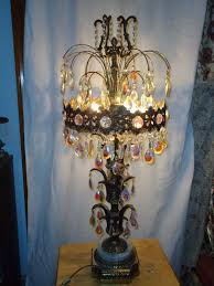 Maitland Smith Lamps Ebay by Large Table Lamps Set 2 Vintage Ornate Brass Cherub Prisms
