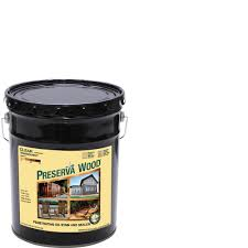 Thompsons Waterseal Deck Wash Msds by Preserva Wood 5 Gal Clear Penetrating Oil Based Exterior Stain