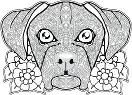 Dog Coloring Page Pages Free Printable Christmas For Adults Only Online Pdf Hard Color Large