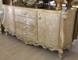 casa padrino luxus barock sideboard antik gold 220 x 55 x h 110 cm massivholz schrank mit 2 türen und 4 schubladen edel prunkvoll
