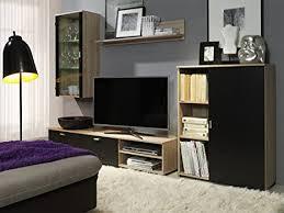 de neue schwarze eiche sonoma anbauwand wohnzimmer
