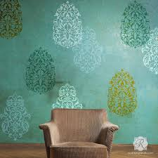 Painting Large Middle Eastern Turkish Moroccan Designs With Wall Art Stencils