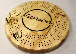 3 Track Round Large Hole Cribbage Board