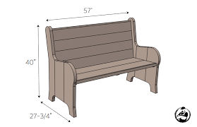 how to build a church pew free diy plans churches woodworking