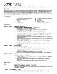 Resume Templates For X Ray Tech ResumeTemplates