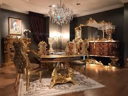casa padrino luxus barock esszimmer set braun antik gold 1 esstisch 8 esszimmerstühle esszimmer möbel im barockstil edel prunkvoll