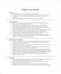 Resume Summary Example Examples Of Lovely Best Template For Career Change