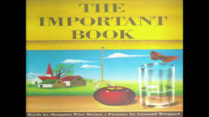 The Important Book By Margaret Wise Brown - YouTube Our Favorite Kids Books The Inspired Treehouse Stacy S Jsen Perfect Picture Book Big Red Barn Filebig 9 Illustrated Felicia Bond And Written By Hello Wonderful 100 Great For Begning Readers Popup Storybook Cake Cakecentralcom Sensory Small World Still Playing School Chalk Talk A Kindergarten Blog Day Night Pdf Youtube Coloring Sheet Creative Country Sayings Farm Mgaret Wise Brown Hardcover My Companion To Goodnight Moon Board Amazonca Clement