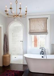 bubble chandelier hung in the bathroom ceiling with black color