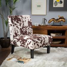 Kalee Cow Print Fabric Dining Chair (Set Of 2)
