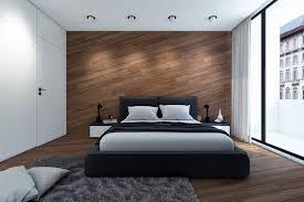 schlafzimmer design mit wand und boden aus holz