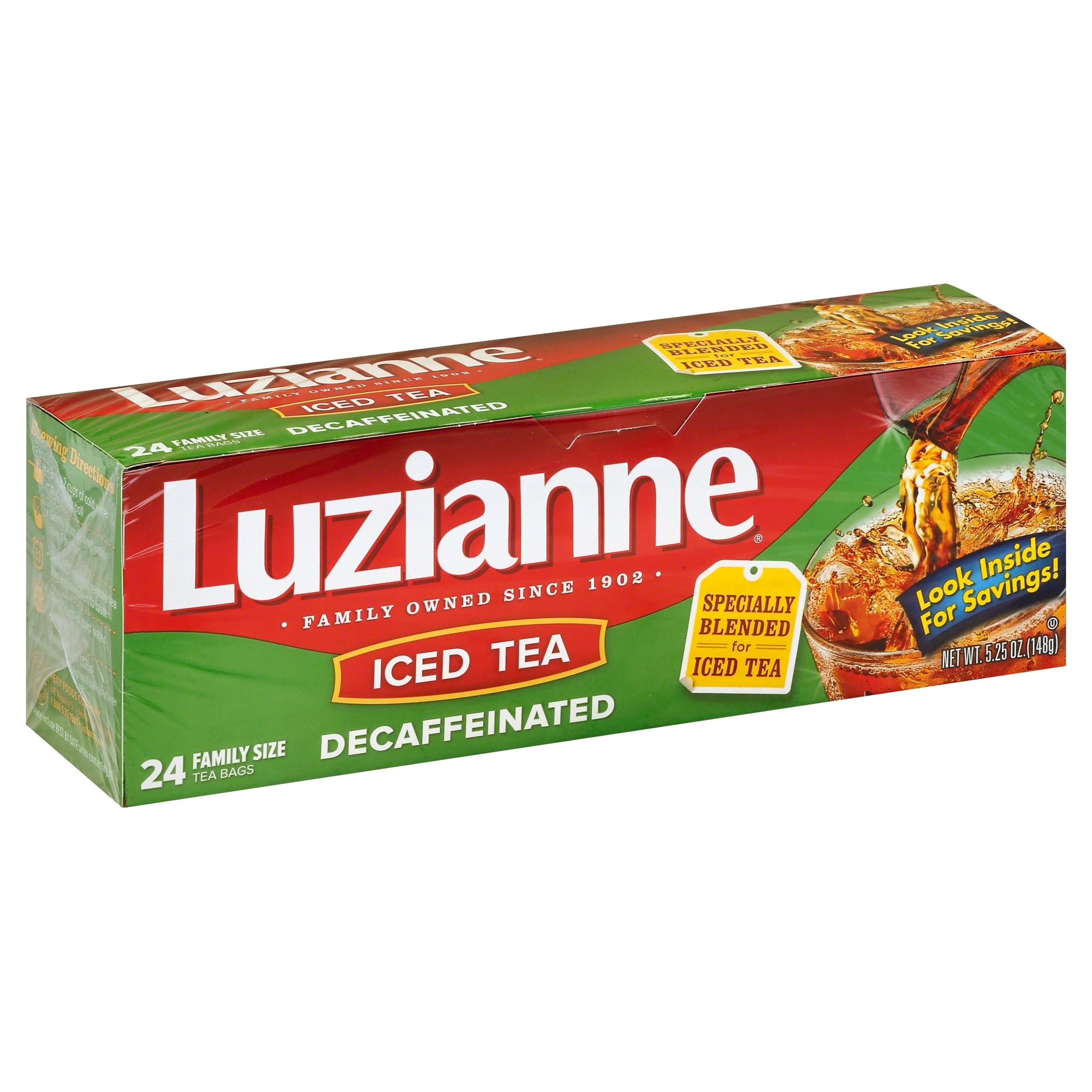 Luzianne Decaffeinated Iced Tea - Family Size, 24ct, 5.25oz