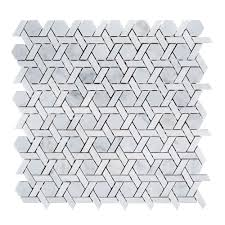 Jeffrey Court Mosaic Tile by Jeffrey Court Primrose Chapel 9 3 4 In X 11 1 8 In X 8 Mm Marble
