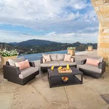 Portofino Patio Furniture Canada by Portofino Comfort 4 Piece Seating Set In Espresso Taupe Sun Room