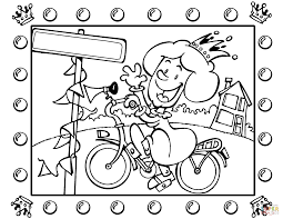 Click The Queen On Bicycle Coloring Pages To View Printable Version Or Color It Online Compatible With IPad And Android Tablets