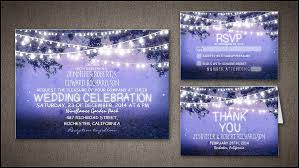 Read More STRING LIGHTS RUSTIC BLUE WEDDING INVITATION